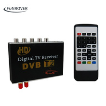 Free shipping Digital TV Receiver Car Dvb-T2 DVBT2 TV Receiver for Car DVD digital TV tuner Mpeg4 For Russia Thailand Europe(China)