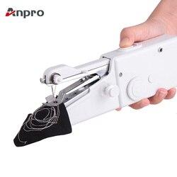 Anpro Ручной мини швейная машина портативный бытовой беспроводной электрический инструмент для вышивания для быстрого ремонта DIY дома путеше...