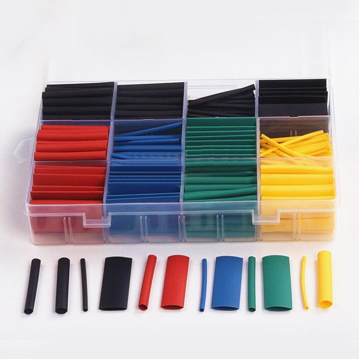 530 Pcs 2:1 Heat Shrink Tubing Tube Sleeving Wrap Cable Wire 5 Color 8 Size Case<br><br>Aliexpress