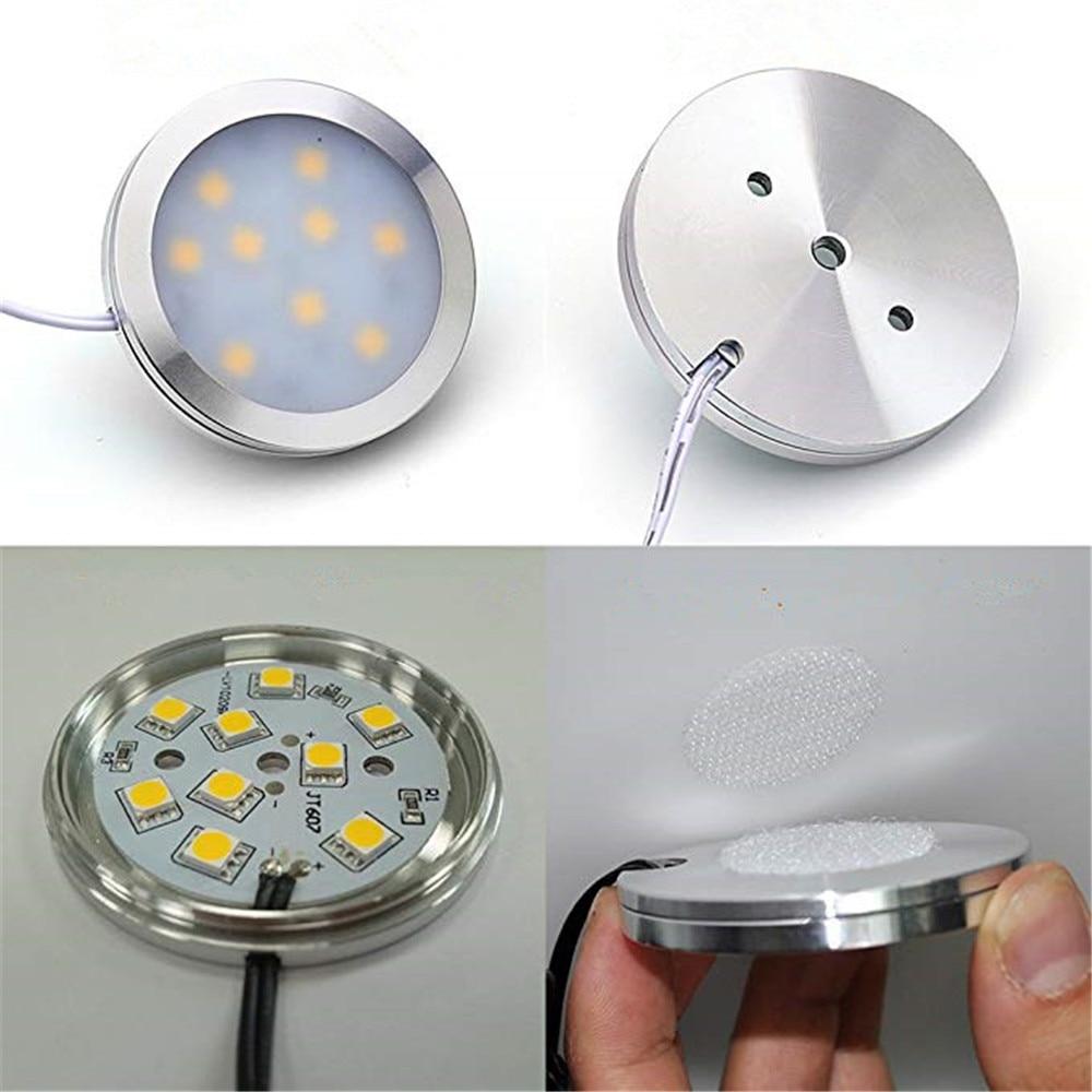 2.5W LED Cabinet Light Puck Light Showcase Lamp DC12V LED Kitchen Lighting Closet Cupboard Drawer Wardrobe Lights CE (3)