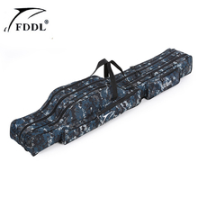 FDDL Portable 2-3 Layer Fishing Bags Folding Fishing Rod Bag Case Fishing Tackle Tools Storage Bag 1.2m 1.3m 1.5m(China)