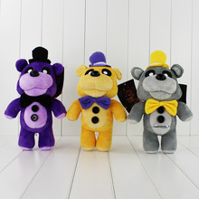3 Colors Five Nights At Freddy's 4 FNAF Golden Gray Purple Freddy Fazbear Bear Stuffed Plush Toys Dolls For Boys and Girls(China)