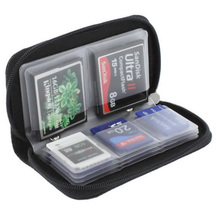 Black Memory Card Storage Bag Carrying Case Holder Wallet 18 Slots + 4 Slots for CF/SD/Micro SD/SDHC/MS/DS Game Accessories