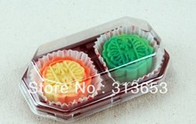 new arrival moon cake box, moon cake packaging/ cake container with free200pcs  inner muffin case- free shipping