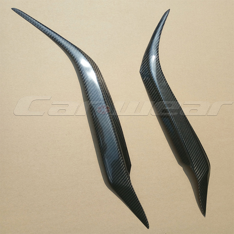 2006-2013 For Mazda 3 Axela Carbon Fiber Car Headlight Eyelid Eyebrows Trim Sticker for Mazda3 Axela 2006-2013<br>