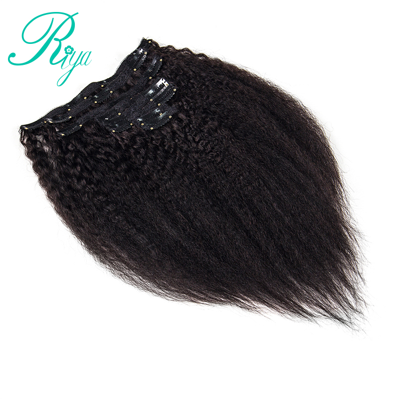 kinky straight clip in human hair extension (12)