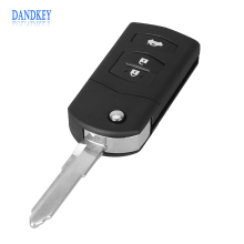 Dandkey 3 BUTTON REMOTE FOLDING FLIP KEY SHELL CASE FOB PAD FOR MAZDA 2 3 5 6 RX8 MX5 FREE SHIPPING(China)