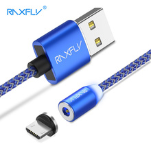 RAXFLY Magnetic Charger Xiaomi Redmi Note 5 4 4X Magnetic Micro USB Cable Samsung S7 S6 Edge Magnet Cable Charging Wire