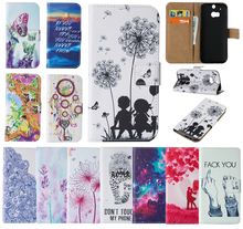 2017 Luxury Case for HTC One M8 PU+TPU Case for HTC One M8 EMEA ASIA AT&T T-MOBILE HTC6525LVW Painted wallet mobile phone bag
