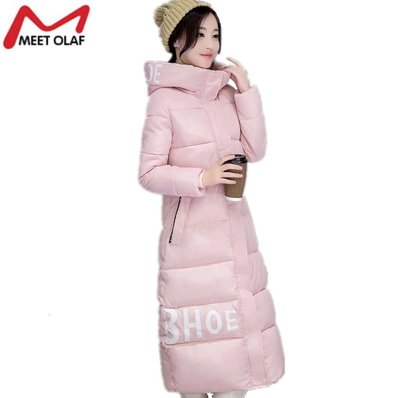 2017 Hooded Winter Coats Women Winter Jackets Under Knee Long Parka Female Padded Outwear Wadded abrigos mujer invierno YL625Îäåæäà è àêñåññóàðû<br><br>