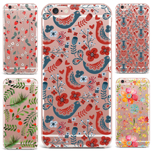 Case For Apple iPhone 7 8 Plus 7 6 S 8 6 Plus X 4 5s Mobile Phone Shell Flowers Patterned Series Cute Tropical Plants Hard PC(China)