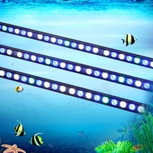 5pcs/lot 108W LED aquarium light bar hard strip lamp waterproof for reef coral plant freshwater/saltwater fish tank lighting(China)