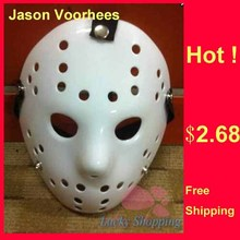 Black Friday Jason Voorhees Freddy hockey Festival Party Mask Pure White 100gram PVC Material For Halloween Masks 100pcs/lot