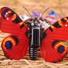 Novelty Magic ABS Butterfly Insect Shaped Solar Powered Toy Kids Educational Toy Creative Gift(China)