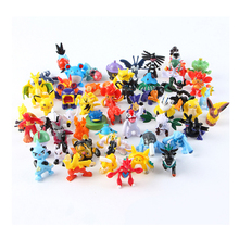 8 Pcs/lot Baby Kids Random PVC Kawaii Anime Go Mini Action Figures Children Model Toys Birthday Christmas Gifts