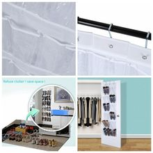 24 Pockets Box Shoes Organize  Over Door Hanging Bag Rack Hanger Storage Tidy Storage Box Hanging Bags