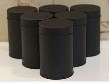 Size: dia.74x117mm black round tea tin  box/tea container/for 75g tea packing/food tin can