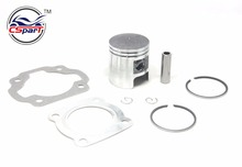 41MM 10MM Piston Ring Kit For Suzuki D1E41QMB TB50 50CC Qingqi Geely 50CC Scooter Parts(China)