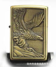 High-quality Bronze The eagle wings Oil lighters kerosene lighters Windproof Metal Smoking Fuel Lighters