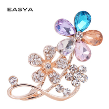 EASYA Flower Brooch Multi Color Clothing Accessories Manufacturers Wholesale Scarf Buckle Dual-use