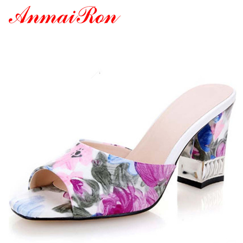 ANMAIRON women Sandals real PU leather Printed Shoes Sandals stiletto fretwork peep toe high heel sandals fashion ladies shoes<br><br>Aliexpress