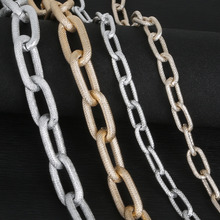 DIY jewelry accessories production Sliver Gold Gold chain Sexy flash style Retro-style chain for woman gift