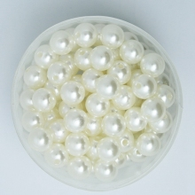 Pick Size 4.6.8.10.12.14.16.18.20mm ABS Ivory/White Color Imitation Pearls Beads Round Loose Beads Fit DIY Bracelet Making