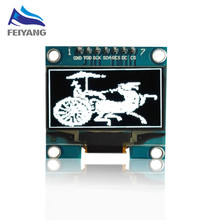 "1PCS SAMIORE ROBOT 1.3"" OLED module white color 7pin 128X64 1.3 inch OLED LCD LED Display Module 1.3"" SPI Communicate(China)"