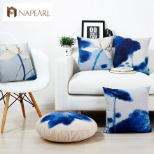 Fluid pillow cushion lumbar pillow office sofa pillow ink painting siesta round(China)