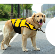 Outdoor Pet Life Vest for Big Size's dog Swimming Preserver with Refective Stripes Safety Swimsuit with free shipping