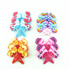 2pcs/lot Cartoon Baby Girl Headbands My Little Ponys Hair Clip for Women Children Kids Anna Elsa Hair Accessories Hairpins Bows(China)