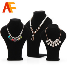 Classical Black Long Board Necklace Mannequin Display Stand for Plush Customized Model Bust 35cm Jewelry Display Stand Rock
