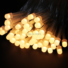 Corded 10M 30M 100/300LED PVC Wire Warm White LED String Rope Lights Christmas Strip Starry Lights 8 Mode + US UK EU Adapter