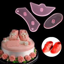Baby Shoes Birthday DIY Cake Decorating Mold Cutter Fondant Sugarcraft Tool 3Pcs