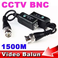 1pair CCTV Passive Transceiver Video Balun UTP Receiver With Amplifier Circuit Up to 1500M BNC Cat5 DVR Coaxial Twist Adapter
