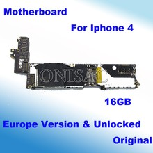 Well test Original Europe Version 16GB Unlocked motherboard For Iphone 4 4g Mainboard  100% working With Chips logic board