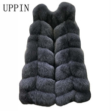 UPPIN 2017 New Fashion Winter Women Fur Vest Long Section Thick Russian Faux Fur Vest Fox Fur Vest Big Yards S-4XL Jacket Coat(China)