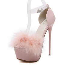 Sweet Sexy Super Platform Sandals Pumps Women Fashion Ful Stiletto Heels Shoes Peep Toe Thin Heels Party Wedding Shoes Pink Red(China)