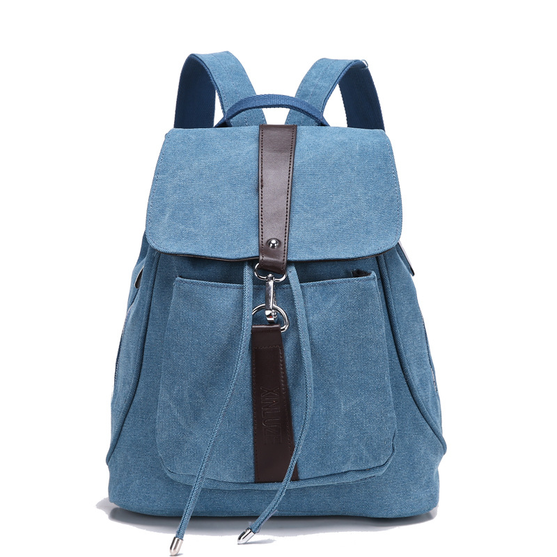 2017 vintage casual women daily backpacks canvas bag student schoolbag retro drawstring travel backpack for teenage girl bagpack<br><br>Aliexpress