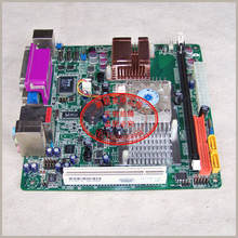 Free shipping  Atom 230-4C motherboard IPC POS queuing machine ITX 4COM port Gigabit PCI IDE