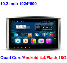 "For 10.2"" Quad Core 16GB Android 4.4 Car DVD Radio GPS Navigation For Toyota Land Cruiser 100 LC100 low level Lexus IX470 WIFI"