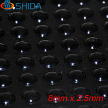 Wholesale 2000PCS 8*2.5mm Self Adhesive Soft Black Anti Slip Round Bumpers Silicone Rubber Feet Pads Sticky Shock Absorber(China)