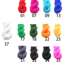 2016 Top sale New Fashion Natural Soft Acrylic Yarn Thick Yarn for Knitting Baby Wools Crochet Yarn Weave Thread With Gold Line