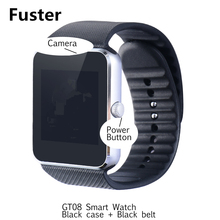 Fuster Popular wearable device cheap smart watch GT08 for Android and ios bluetooth smartwatch SIM Card