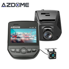 Azdome A305D FHD 1080P Car DVR Novatek 96658 Dual Lens LCD Screen Sony IMX323 Car Video Recorder Dash Cam With Rear Camera(China)