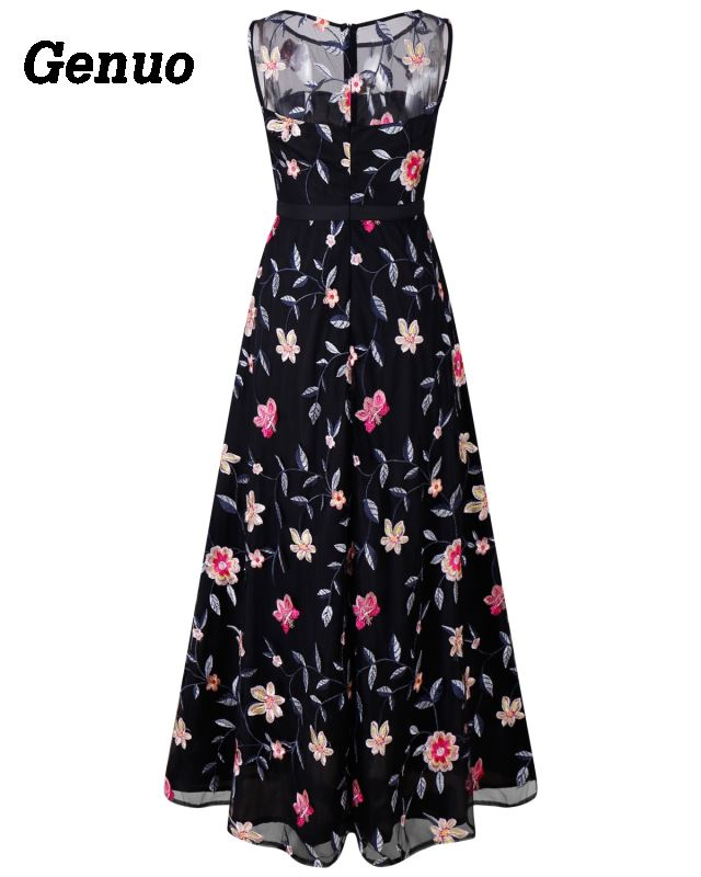 Flower Embroidery Maxi Dress 12