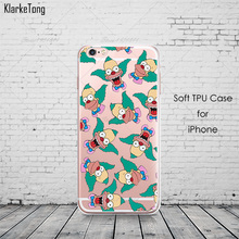 Funny Comic Cartoon Kaws Krusty Print Soft Silicone Cell Phone Cases For iPhone 6 6s 5 5s se 7 7plus Cover Coque Fundas