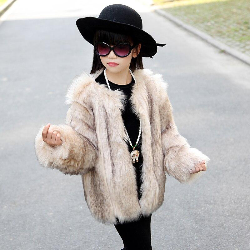 New Children Faux Fur Coat Baby Girls Autumn Winter Warm Short Full Solid Coat Clothes Kids Faux Fur Coats Thick Fur Outerwear<br><br>Aliexpress