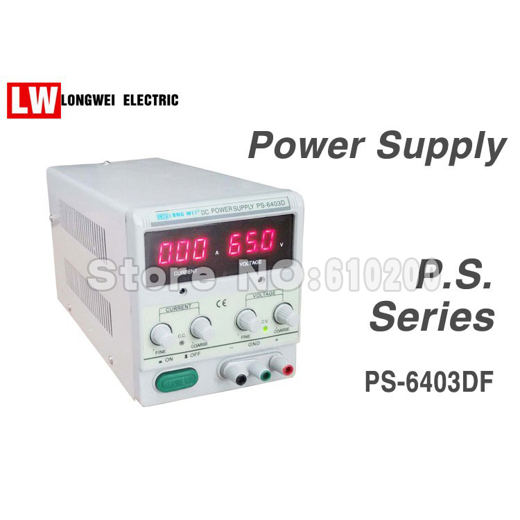 PS-6403D Single Channel Output 64V 3A Adjustable 3 LED Accurate Digital Display Linear DC Power Supply<br><br>Aliexpress