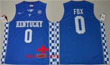 Free Shipping Nike 2017 Kentucky Wildcats De'Aaron Fox 0 College Ice Hockey Hype Elite Jersey - Royal Blue Size S,M,L,XL,2XL,3X(China)